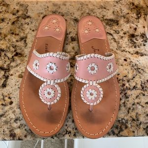 Jack Rodgers blush flat sandal